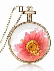 Party/Casual Alloy/Acrylic Fashion Perfume Bottle Round Shape Pendant Necklace