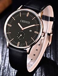 CHENXI High-grade Ultra-thin PU Leather Calendar Quartz Watch