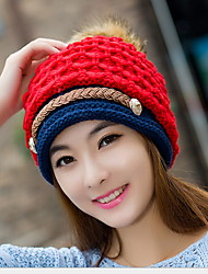 Women Candy Color Spell Color Lovely Fashion Hat Knitting Hat