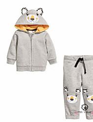 Boy's All Seasons Inelastic Thin Long Sleeve Clothing Set (Cotton Blend)