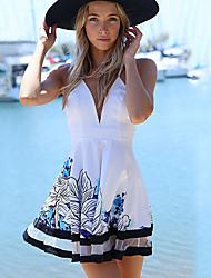 KuGo        Women's Dresses , Cotton Sexy/Casual/Print VOV