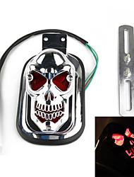 crâne feu arrière queue support de plaque d'immatriculation pour la moto Harley (1 pc)