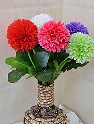 Poliéster Cravo Flores artificiais