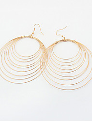 European Style Fashion Party Alloy Multilayer Circle Drop Earrings