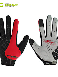 Basecamp® Cycling Gloves Shipping Cycling Bike Bicycle Gloves Nylon Winter Warm Sports Full Finger Gloves RedBC-202L