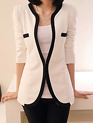 Women's Casual Work Medium Long Sleeve Regular Blazer (Microfiber)