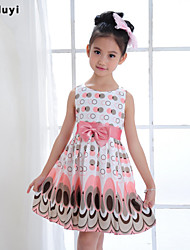 Vestido Chica de - Todas las Temporadas - Mezcla de Algodón - Sin Mangas