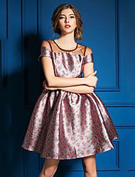 DFN    Women's Vintage/Casual/Party Dresses (Mesh)
