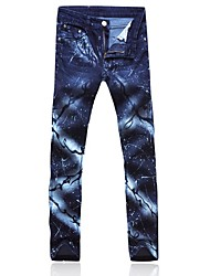 Men's Casual Print Pant (Denim)