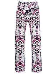 Women's Artistic Floral Print Wide Leg Pants