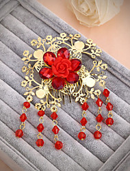 Bride's Flower Shape Rhinestone Forehead Wedding Hair Accessories 1 PC