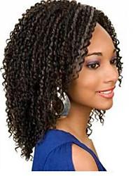 en stock 10-30inch crépus bouclés avec de la dentelle de cheveux de bébé devant perruques 100% brésiliens vierges u de cheveux humains
