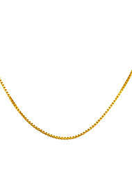 24K gold plating   Box Necklace