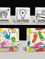 5 Pcs Fashion Creative Funny PVC Wall Sticker Switch Decals