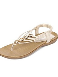Women's Shoes Flat Heel Open Toe Sandals Casual Black/Beige