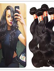 3pcs / lot dei capelli vergini dell'onda del corpo 3 pacchi non trasformati onda vergine del corpo dei capelli brasiliani economici fasci