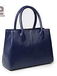 Handcee® Best Seller Simple Style Real Cowhide Woman Leather Handbag