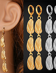 Vogue Gold Drop Earrings For Women 2015 Fashion Jewelry Trendy Platinum / 18K Real Gold Plated Cute Slipper Drop Earring