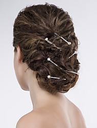 Women Alloy/Organza/Net Hair Pin With Imitation Pearl/Rhinestone Wedding/Party Headpiece