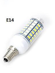 marsing® m18 e14 / e27 12w 1000lm 69 x SMD 5730 ha condotto la lampada della lampadina luce bianca calda / fredda (220V AC)