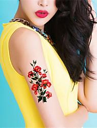 5Pcs Waterproof Color Flower Pattern Temporary Body Art Tattoo Sticker