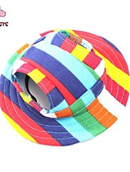 Cat Dog Bandanas & Hats Dog Clothes Holiday Casual/Daily Stripe Rainbow