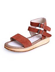 ДЕВУШКАКоричневый / Зеленый) -Удобная обувь / Босоножки / С открытым носком / Сандалии