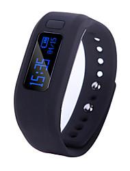 """0.91 """"Bluetooth pulseira inteligente à prova d'água wearable monitoramento sono Bluetooth dos esportes pedômetro"""