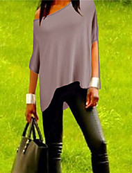 Tee-shirt Aux femmes ½ Manches Bateau Polyester