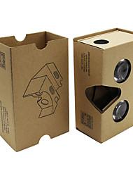 2015 cartón bricolaje 2 de realidad virtual vasos vr 3d para nexo 6 / iphone 6 más + más