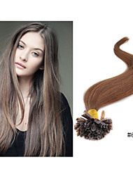 1pc/lot Brazilian Hair Pre-Bonded Keratin Nail U Tip Hair Extensions Straight Fusion Hair Extension 13color available