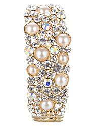 Sjeweler Lady's Crystal Pearl&Crystal Bracelet Bangle