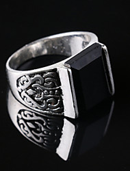 Men's Party/Casual Alloy Vintage Fashion Resin Gemstone Statement Ring