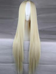 fashion girl must-have de haute qualité blonde naturelle longue perruque de cheveux raides