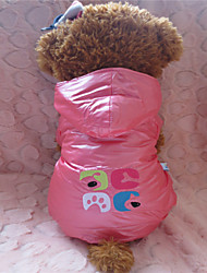 Dog Hoodies - XS / S / M / L - Winter - Pink / Purple Mixed Material