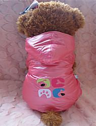 Camisola com Capuz - Inverno - Rosa / Púrpura Mistura de Material - para Cães - XS / S / M / L
