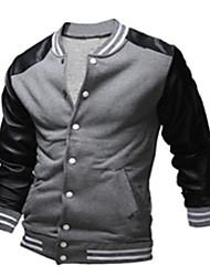 Masculino Sets activewear Casual Poliéster/PU Manga Comprida Masculino
