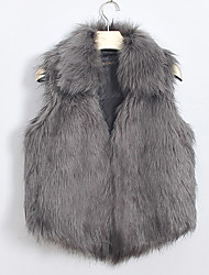 Women's Vests , Faux Fur Casual XT