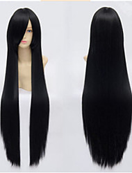 100cm Long Black Straight Hair Wig