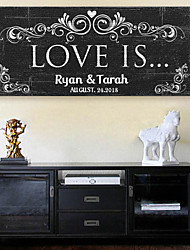 E-HOME® Personalized Signature Canvas Frame- Love Is