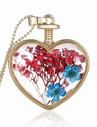 Party/Casual Alloy/Acrylic Flower Heart Shape Pendant Necklace