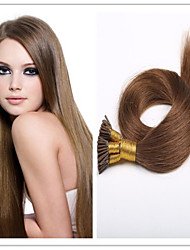 "Cheap 18""-28"" Keratin Pre-bonded Brazilian Virgin I Tip Hair Extensions 1G/S 100G/PC 1Pc/Lot In Stock Tangle Free"