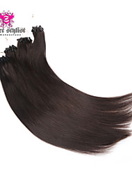 Big Sale 100 Bonds Stock Indian Virgin Hair Micro Loop Hair Extensions 18 inch Micro Beads Hair Extensions NEW!!!