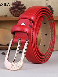 Mujer Cinturón Slim Vintage/Bonito/Fiesta/Trabajo/Casual Piel de Ternero