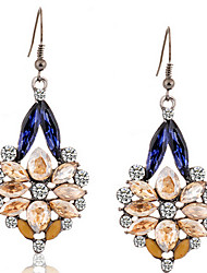 Drop Earrings Gemstone Simulated Diamond Alloy Statement Jewelry Fashion Screen Color Jewelry 2pcs