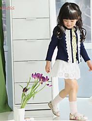 Maglione e cardigan Girl Tinta unita Cotone / Poliestere Inverno / Primavera / Autunno Blu / Rosa