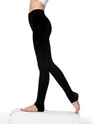 Women Nylon/Polyester Thick Fleece Lined Low Waist Legging
