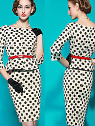 VICONE Women's Vintage/Sexy/Bodycon/Casual/Cute/Party ½ Length Sleeve Dresses