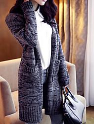 Women's Vintage Multicolor Autumn Fashion Cardigan Knit Coat