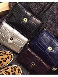 Women 's PU Baguette Shoulder Bag - Blue/Red/Silver/Black